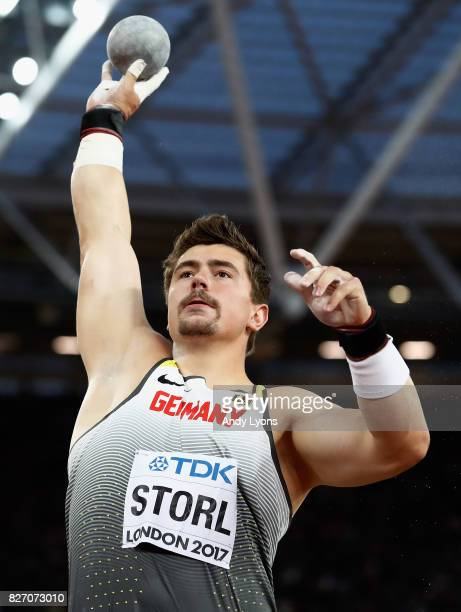 David Storl of Germany competes in the Men's Shot Put final during day three of the 16th IAAF World Athletics Championships London 2017 at The London...