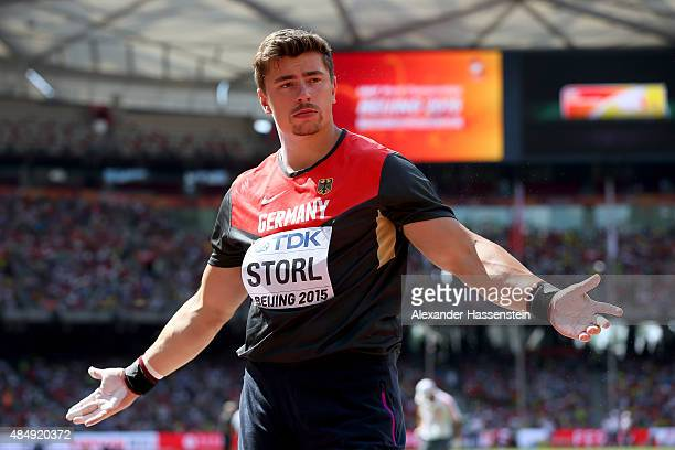David Storl of Germany competes in the Men's Shot Put qualification during day two of the 15th IAAF World Athletics Championships Beijing 2015 at...