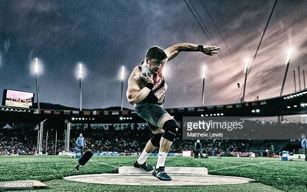 David Storl of Germany in action during the Mens Final of the Shot Putt during day one of the 22nd European Athletics Championship at Stadium...