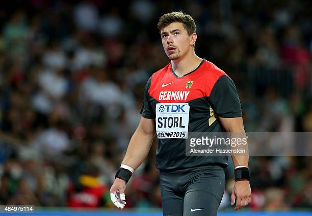 David Storl of Germany reacts after competing in the Men's Shot Put final during day two of the 15th IAAF World Athletics Championships Beijing 2015...