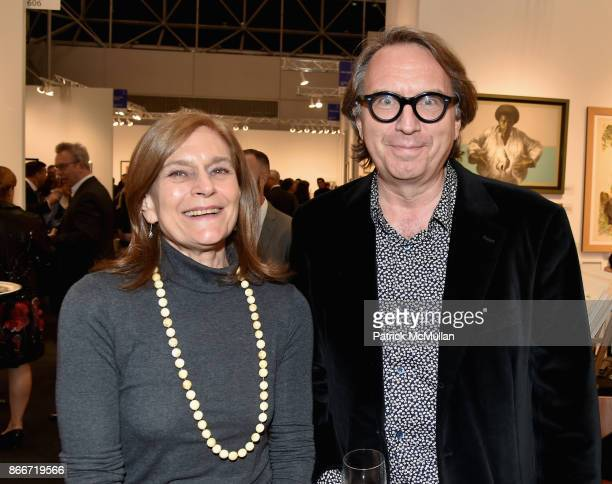 David Story Robin White Owen and Michael Owen attend the IFPDA Fine Art Print Fair Opening Preview at The Jacob K Javits Convention Center on October...