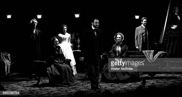 David Strathairn Dee Nelson Jessica Chastain Kieran Campion Caitlin O'Connell and Dan Stevens during the Broadway Opening Night Performance Curtain...