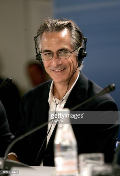 David Strathairn during 2005 Venice Film Festival 'Good Night and Good Luck' Press Conference at Casino Palace in Venice Lido Italy