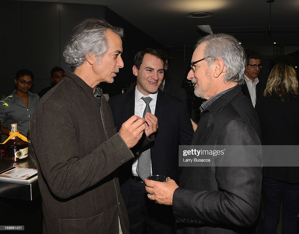 <a gi-track='captionPersonalityLinkClicked' href=/galleries/search?phrase=David+Strathairn&family=editorial&specificpeople=676689 ng-click='$event.stopPropagation()'>David Strathairn</a>, <a gi-track='captionPersonalityLinkClicked' href=/galleries/search?phrase=Michael+Stuhlbarg&family=editorial&specificpeople=228317 ng-click='$event.stopPropagation()'>Michael Stuhlbarg</a> and Director <a gi-track='captionPersonalityLinkClicked' href=/galleries/search?phrase=Steven+Spielberg&family=editorial&specificpeople=202022 ng-click='$event.stopPropagation()'>Steven Spielberg</a> attend NYFF 50th Anniversary surprise screening of Lincoln at Alice Tully Hall on October 8, 2012 in New York City.