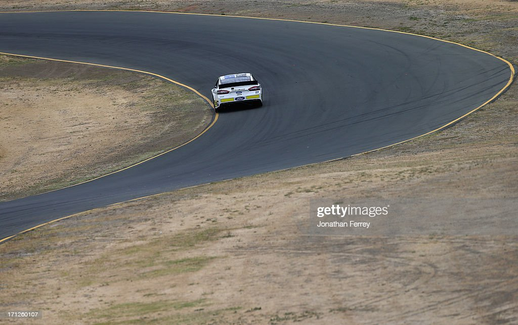 David Stremme, driver of the #30 Lean 1 / Swan Energy Toyota, races during the NASCAR Sprint Cup Series Toyota/Save Mart 350 at Sonoma Raceway on June 23, 2013 in Sonoma, California.