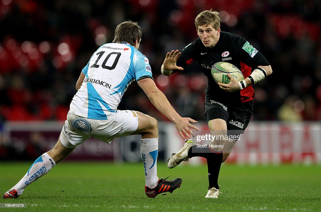 David Strettle of Saracens in action during the Heineken Cup Match between Saracens and Ospreys at Wembley Stadium on December 10, 2011 in London, England.