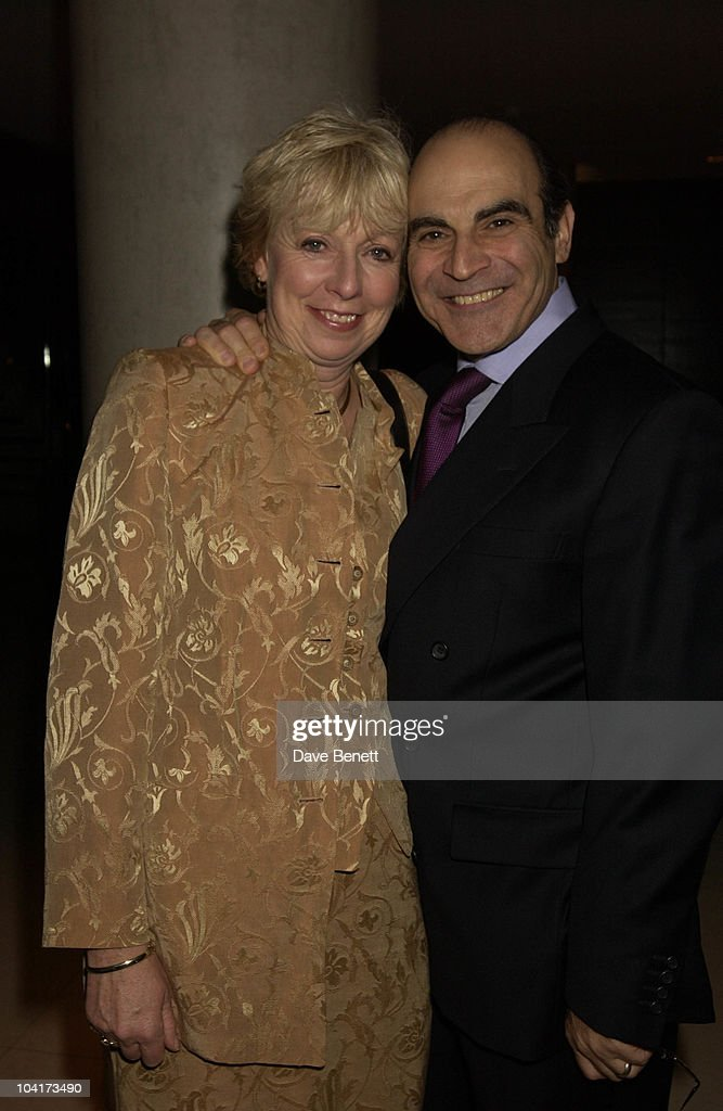 David Suchet And His Wife, At The Theatre Royal Haymarket,and The Party At The Trafalgar Hotel, London.