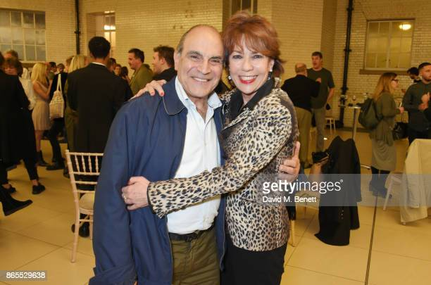 David Suchet and Kathy Lette attend the press night after party for 'Witness For The Prosecution' at London County Hall on October 23 2017 in London...
