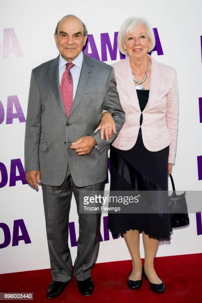 David Suchet and Sheila Ferris attend the LAMDA Royal Gala at LAMDA on June 14 2017 in London England