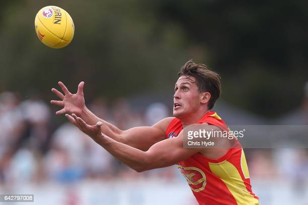 David Swallow of the Suns in action during the 2017 JLT Community Series match at Broadbeach Sports Centre on February 19 2017 in Gold Coast Australia