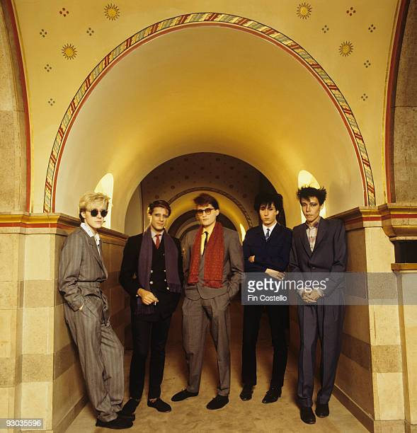 David Sylvian Mick Karn Steve Jansen Richard Barbieri and Masami Tsuchiya of Japan in London England in 1982