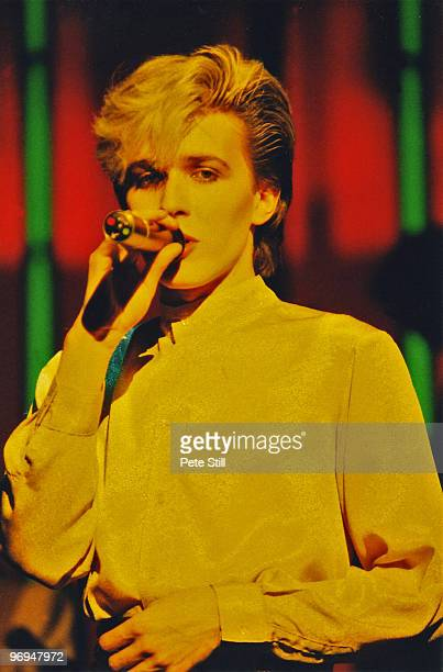 David Sylvian of Japan performs on stage at Hammersmith Odeon on November 21st 1982 in London England