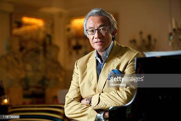 David Tang entrepreneur poses for a portrait in Hong Kong China on Saturday May 21 2011 David Tang founded the Shanghai Tang boutique chain and...