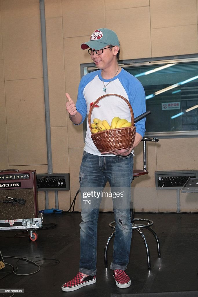 David Tao rehearsed for the upcoming New Year concert on Thursday December 27, 2012 in Taipei, Taiwan, China.