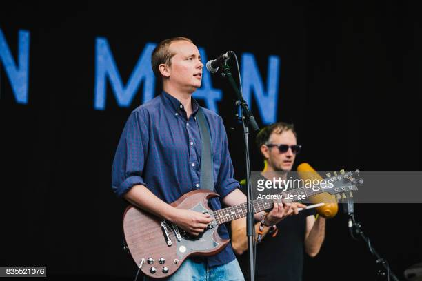 David Tattersall of The Wave Pictures performs on the Mountain Stage during day 3 at Green Man Festival at Brecon Beacons on August 19 2017 in Brecon...