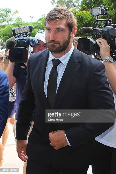 David Taylor arrives at Southport Magistrates Court on March 9 2015 in Gold Coast Australia Gold Coast Titans NRL players have been served with a...
