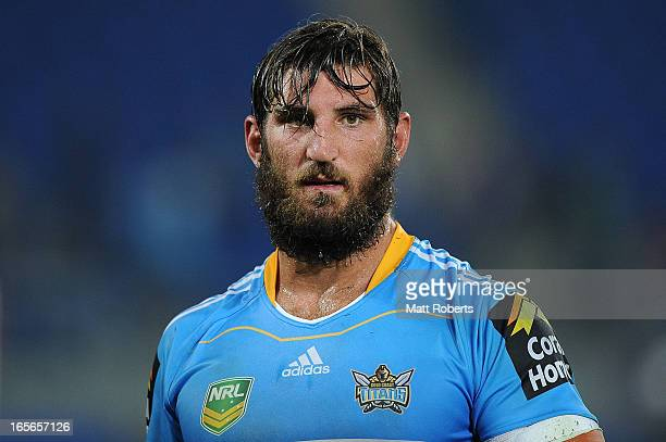 David Taylor of the Titans looks on after the round five NRL match between the Gold Coast Titans and the Brisbane Broncos at Skilled Park on April 5...