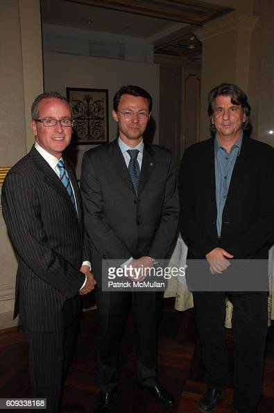 David Taylor Olivier Thomas and David Rockwell attend THE ST REGIS HOTEL NEW YORK and DAVID ROCKWELL hosts private evening with OLD KING COLE at...