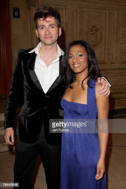 David Tennant and Freema Agyeman attend the National Television Awards 2007 held at the Royal Albert Hall on October 31 2007 in London England