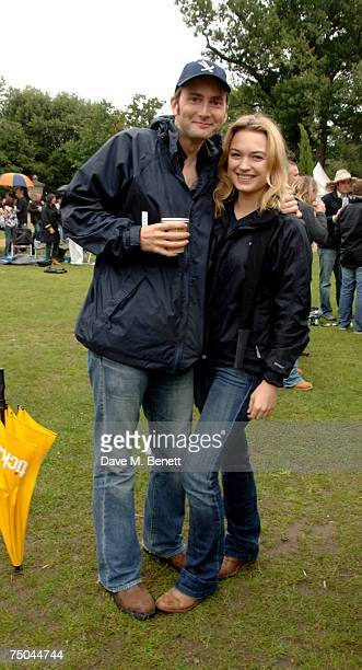David Tennant and Sophia Myles attend the House Festival at Chiswick House on July 5 2007 in London England