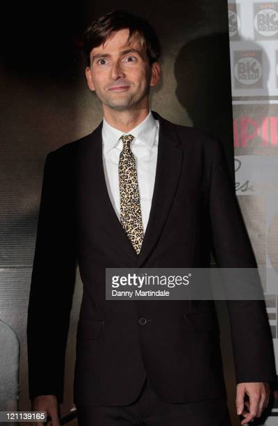 David Tennant attends the 'Fright Night' European premiere as part of the Empire Presents Big Screen weekend at O2 Arena on August 14 2011 in London...