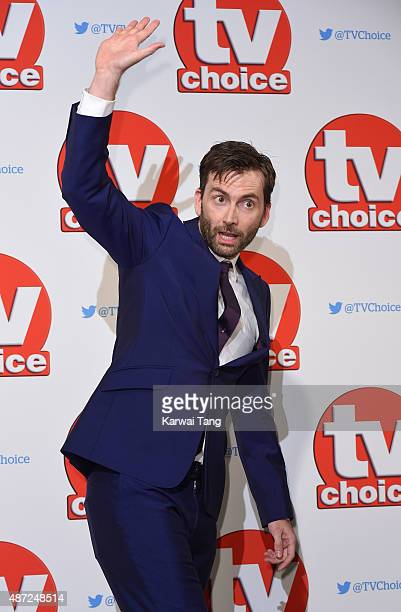 David Tennant attends the TV Choice Awards 2015 at Hilton Park Lane on September 7 2015 in London England