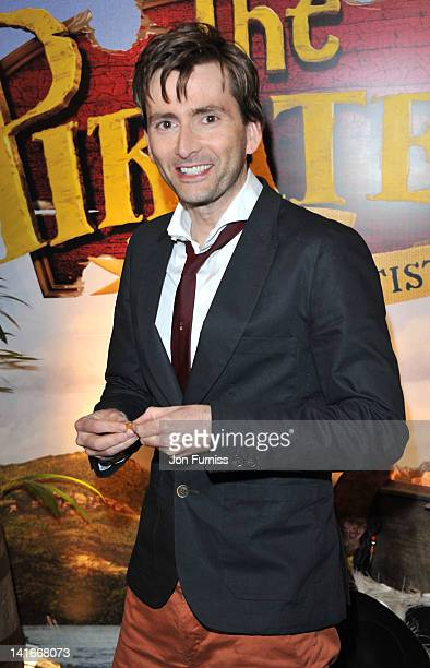 David Tennant attends the UK premiere of 'The Pirates In An Adventure with Scientists' at The Mayfair Hotel on March 21 2012 in London England