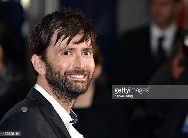 David Tennant attends the World Premiere of 'What We Did On Our Holiday' at Odeon West End on September 22 2014 in London England