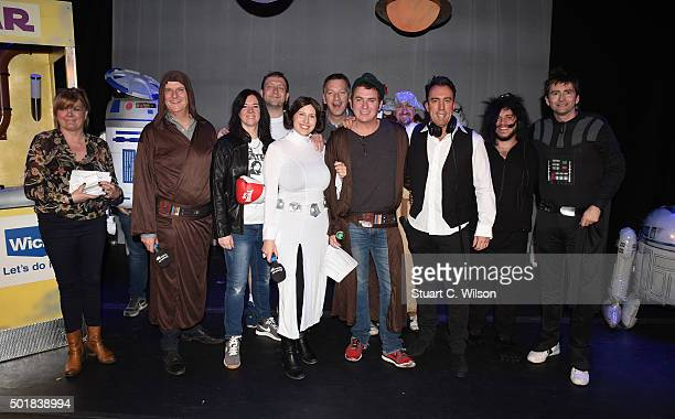David Tennant Christian O'Donnell Shane Richie and Peter Dickson perform at the annual Absolute Radio Pantomime at Leicester Square Theatre on...