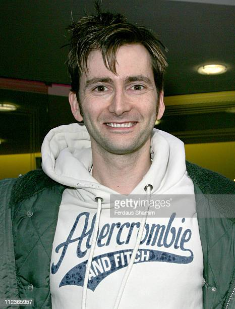 David Tennant during Virgin Radio Christmas Pantomime Outside Arrivals at Golden Square in London Great Britain