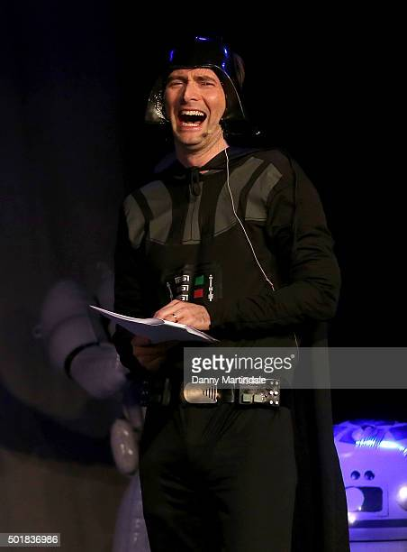 David Tennant performs in the Absolute Radio Panto at Leicester Square Theatre on December 18 2015 in London England