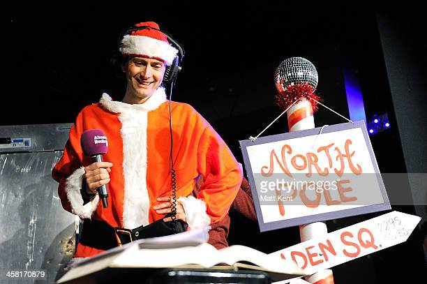 David Tennant stars in Absolute Radio's Christian O'Connell Breakfast Show pantomime 'Zombie Claus' at The Soho Theatre on December 20 2013 in London...