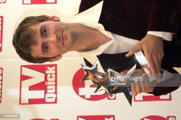 David Tennant wins best actor award during TV Quick and TV Choice Awards Press Room at The Dorchester in London Great Britain
