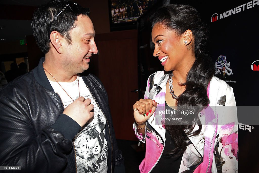 David The Jeweler and <a gi-track='captionPersonalityLinkClicked' href=/galleries/search?phrase=La+La+Anthony&family=editorial&specificpeople=209433 ng-click='$event.stopPropagation()'>La La Anthony</a> attend The King Pin Celebrity Bowling Challenge at 300 Houston on February 16, 2013, in Houston, Texas.