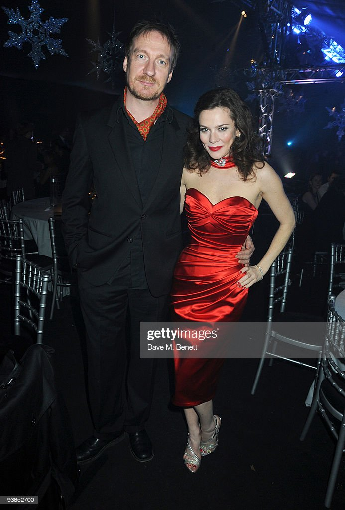 David Thewlis and Anna Friel attends The Berkeley Square Christmas Ball held at Berkeley Square on December 3 2009 in London England