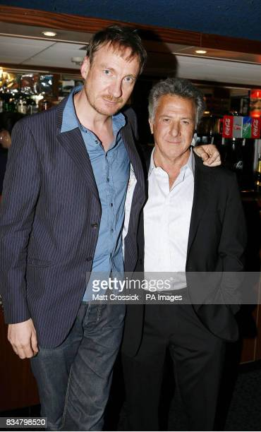 David Thewlis and Dustin Hoffman attend the world premiere of 'The Boy in the Striped Pyjamas' at the Curzon Mayfair in west London