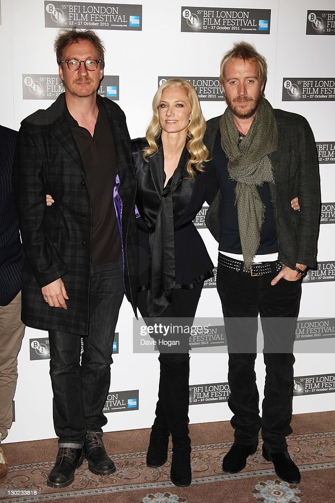 David Thewlis Joely Richardson and Rhys Ifans attend a photocall for 'Anonymous' during The 55th BFI London Film Festival at Claridges Hotel on...