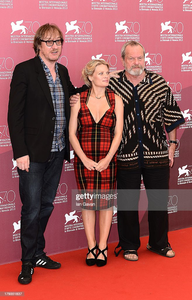 David Thewlis, Melanie Thierry and Terry Gilliam, wearing a Jaeger-LeCoultre Master Memovox watch, attend the 'The Zero Theorem' photocall during the 70th Venice Film Festival at the Palazzo del Casino on September 2, 2013 in Venice, Italy.