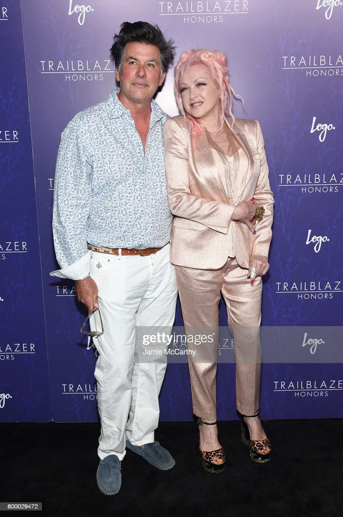 David Thornton and Cyndi Lauper attend the Logo's 2017 Trailblazer Honors event at Cathedral of St. John the Divine on June 22, 2017 in New York City.