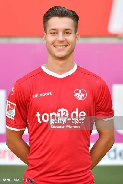 David Tomic of 1 FC Kaiserslautern poses during the team presentation at FritzWalterStadion on August 23 2017 in Kaiserslautern Germany
