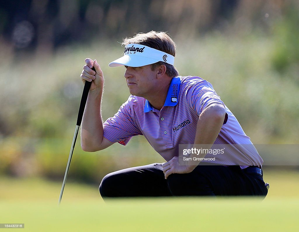 <a gi-track='captionPersonalityLinkClicked' href=/galleries/search?phrase=David+Toms&family=editorial&specificpeople=183354 ng-click='$event.stopPropagation()'>David Toms</a> looks over a shot on the 13th hole during the second round of The McGladrey Classic at Sea Island's Seaside Course on October 19, 2012 in Sea Island, Georgia.