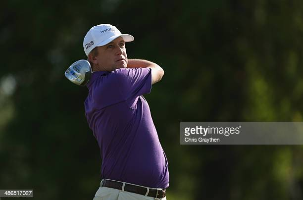 David Toms tees off on the 15th during Round One of the Zurich Classic of New Orleans at TPC Louisiana on April 24 2014 in Avondale Louisiana