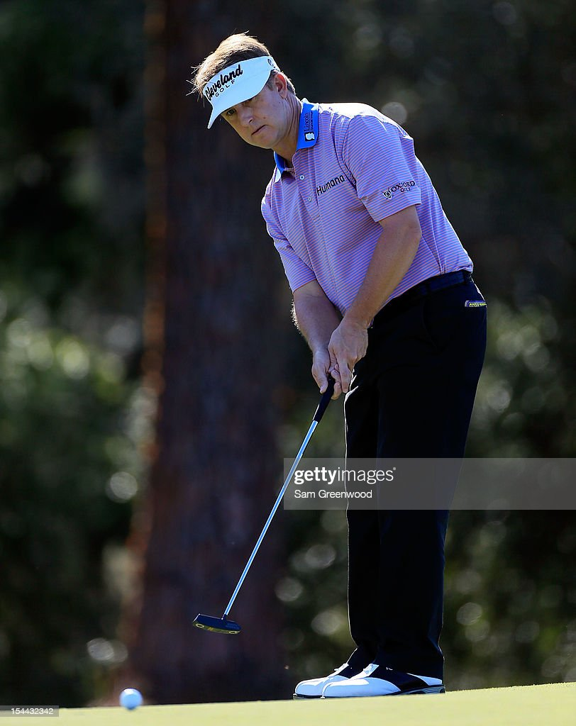 <a gi-track='captionPersonalityLinkClicked' href=/galleries/search?phrase=David+Toms&family=editorial&specificpeople=183354 ng-click='$event.stopPropagation()'>David Toms</a> watches a birdie attempt on the 10th hole during the second round of The McGladrey Classic at Sea Island's Seaside Course on October 19, 2012 in Sea Island, Georgia.