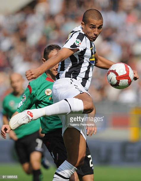 David Trezeguet of Juventus FC in action during the Serie A match between Juventus FC and Bologna FC at Olimpico Stadium on September 27 2009 in...