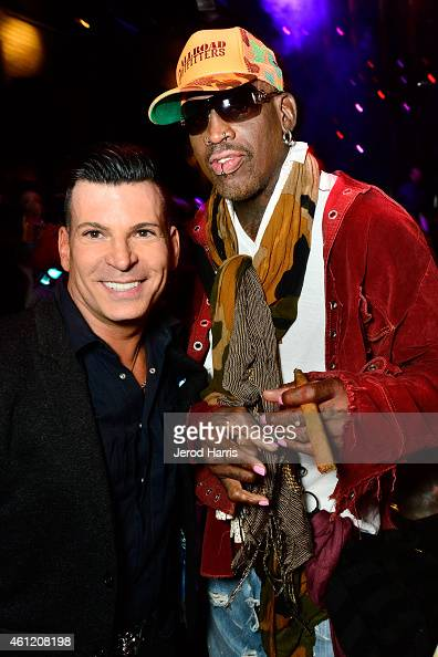 David Tutera and Dennis Rodman attend WE tv's joint premiere party for 'Marriage Boot Camp Reality Stars' and 'David Tutera's CELEBrations' at 1 OAK...