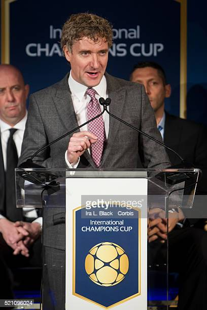 David Tyler CEO of Relevent Sports and Charlie Stillitano Chairman of Relevent Sports Soccer International Champions Cup Press Conference to announce...