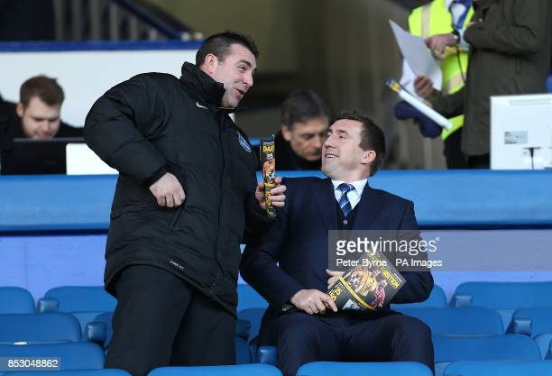 David Unsworth and Alan Stubbs in the stands