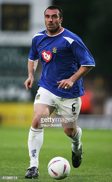 David Unsworth of Portsmouth in action during the Pre Season Friendly match between Wycombe Wanderers and Portsmouth at the Causeway Stadium on July...