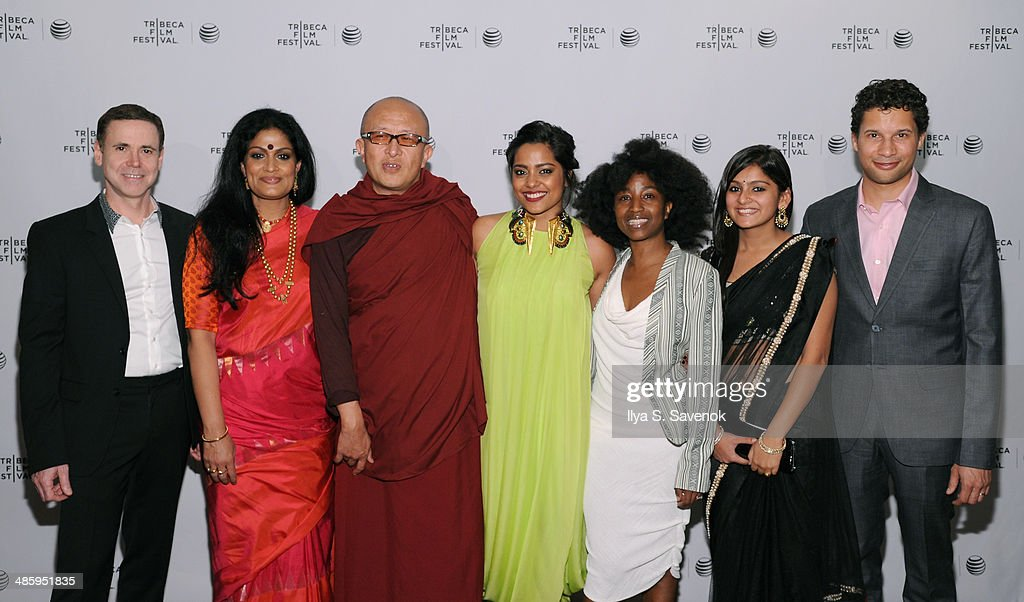 David Urrutia, Geeta Chandran, Khyentse Norbu, Shahana Goswami, Nanette Nelms Aakansha Maheshwari and Matthew Zschoche attend the 'Vara: Blessing' Premiere during the 2014 Tribeca Film Festival at Chelsea Bow Tie Cinemas on April 21, 2014 in New York City.