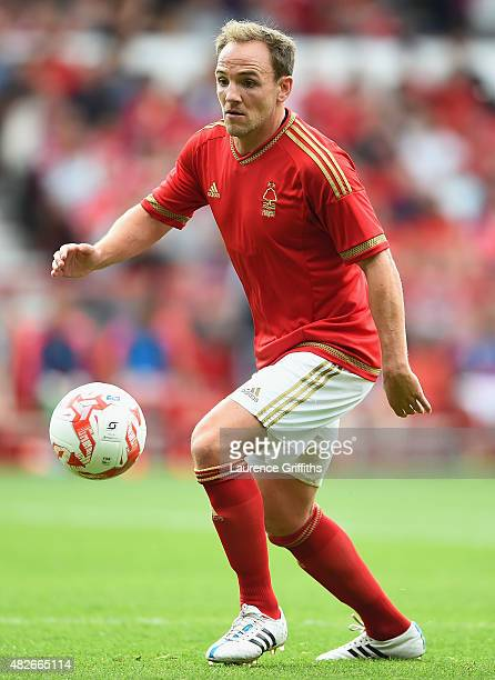 David Vaughan of Nottingham Forest in action during the Pre Season Friendly match between Nottingham Forest and Aston Villa at City Ground on August...